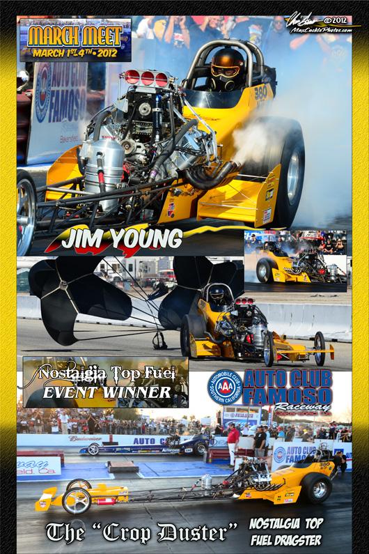 Jim Young March Meet Top Fuel Winner 2012