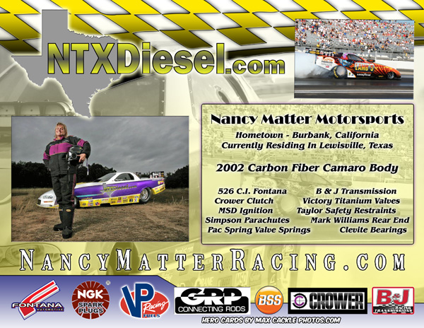 Nancy Matter 2012 Alcohol Funny Car