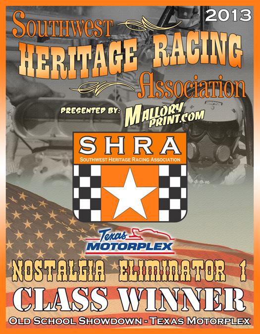 SHRA 2013 Event Winner Plaque