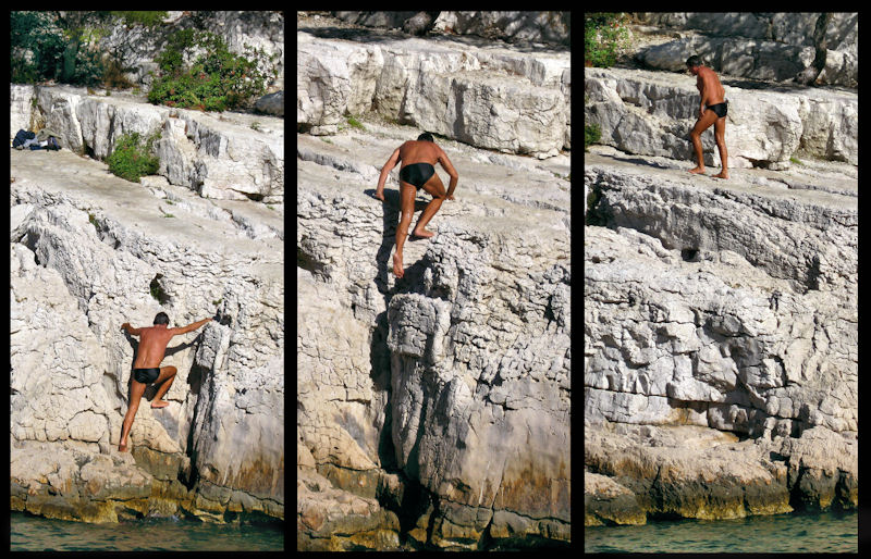 Swimmer and rock-climber....