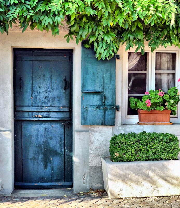 Once upon a time a little blue door drew a curious visitor in...