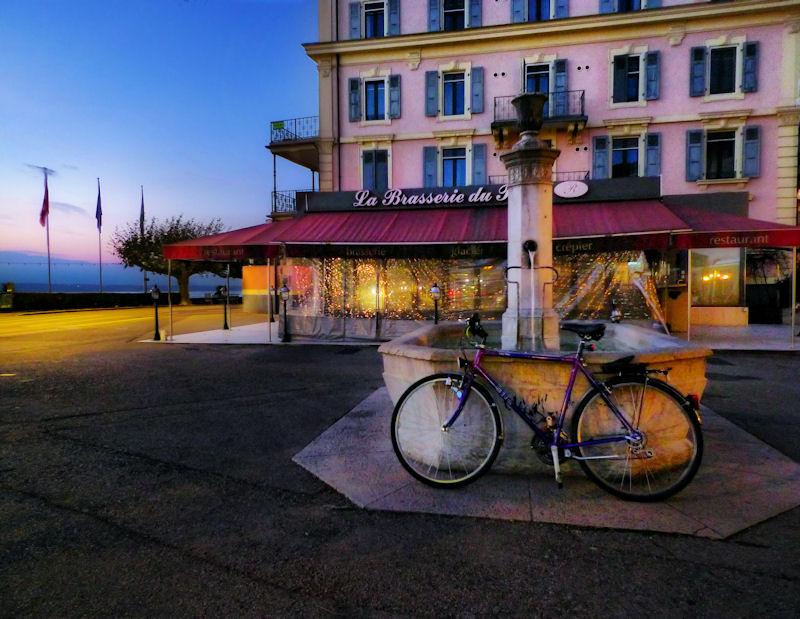 Bicycle at dusk....