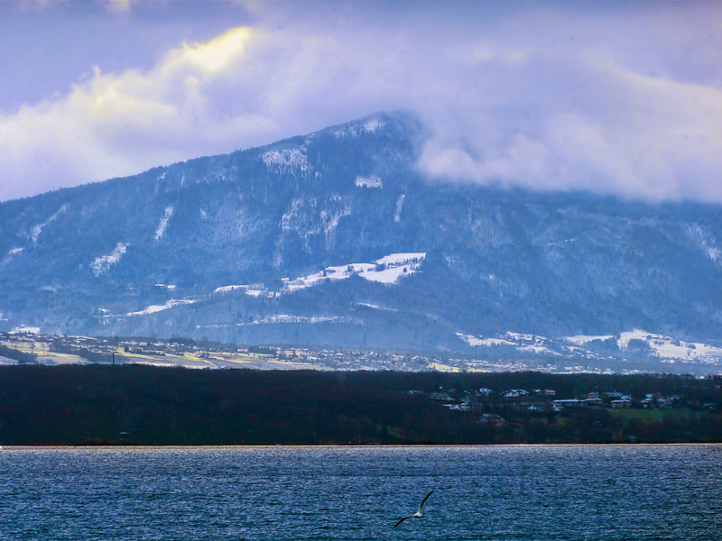 The snow is coming from the French coast...