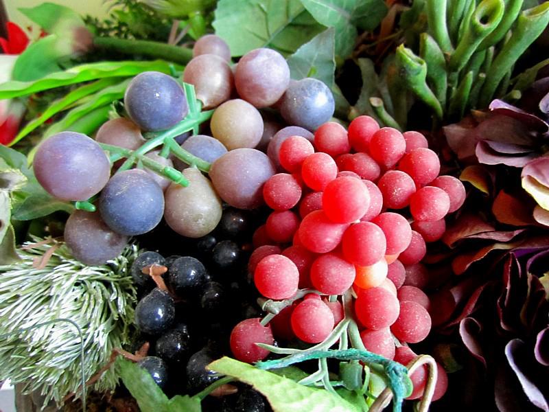 faux raisins décoratifs