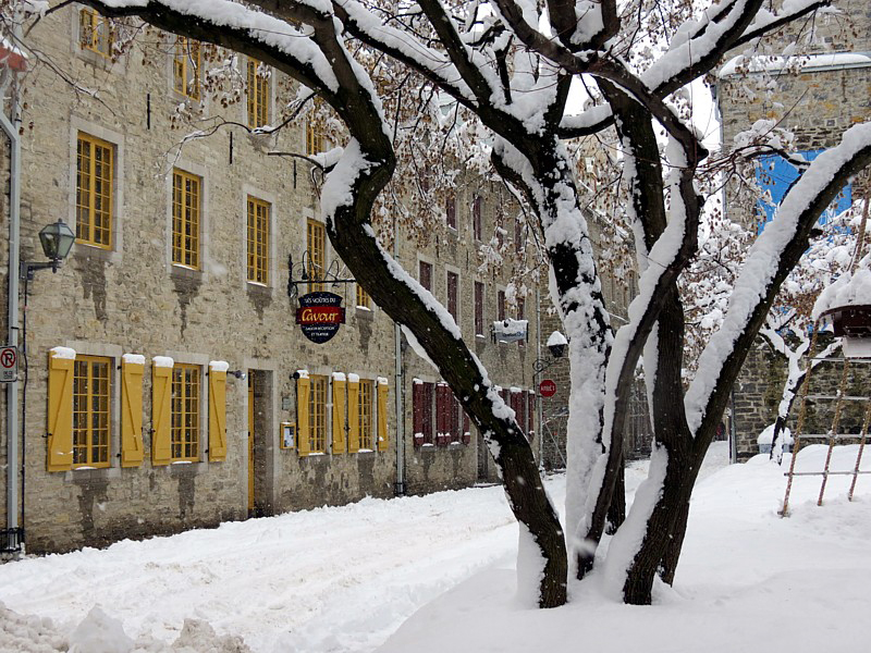 Le Cavour dans la neige