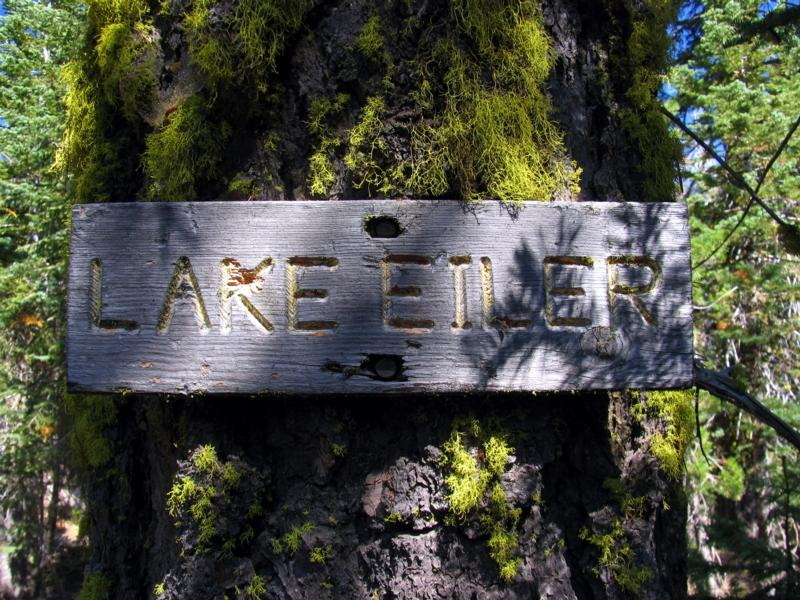 Lake Eiler Trail Sign