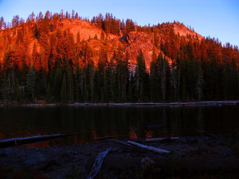 Sunrise at Margurette lake