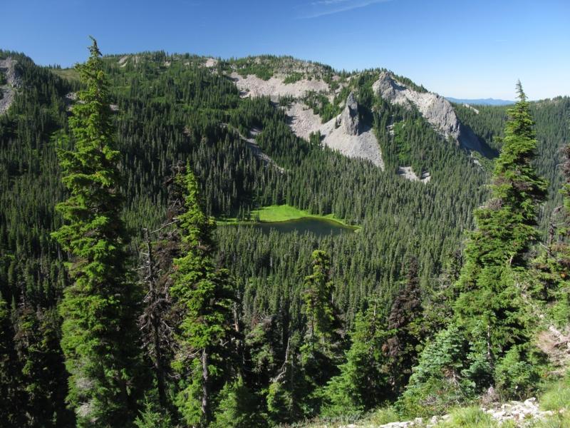 Hank Lake where I camped