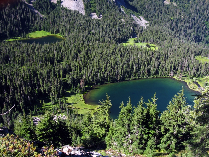 Hank and Hunt Lakes in Hunts cove