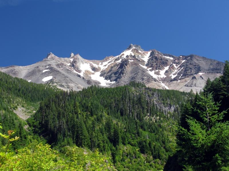 Mt Jefferson above Milk Creek