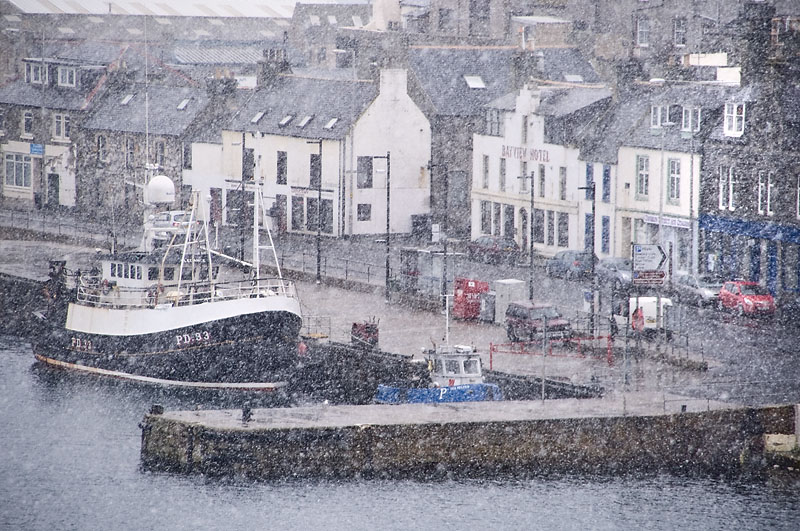 13th February 2013 <br> snow at the coast
