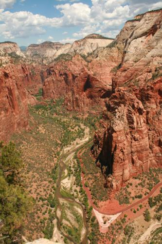 View north from Angels Landing, Zion