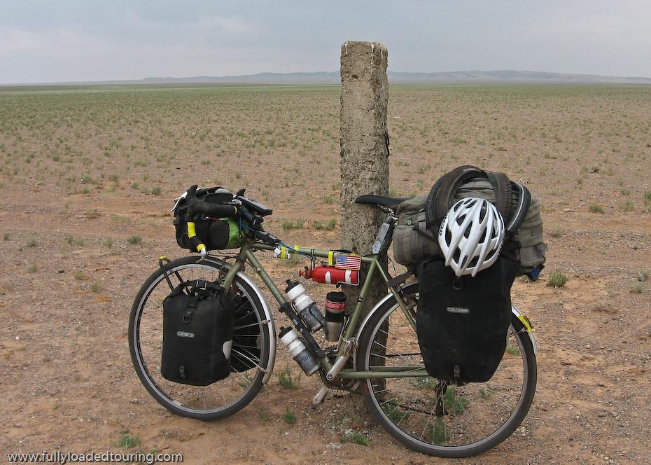 267  David - Touring Mongolia - Trek 520 touring bike