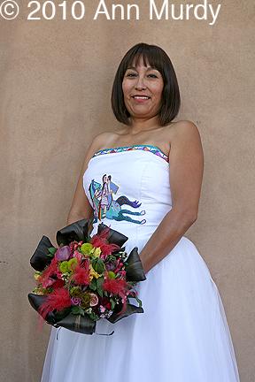 Laverna Goldtooth in wedding dress