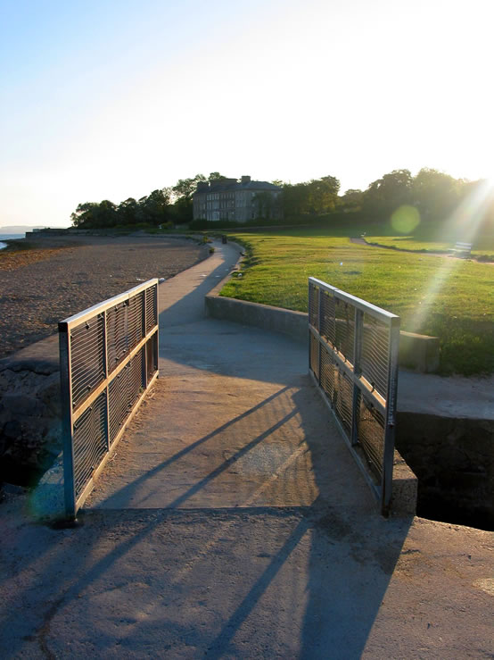 Footbridge Seapark Holywood