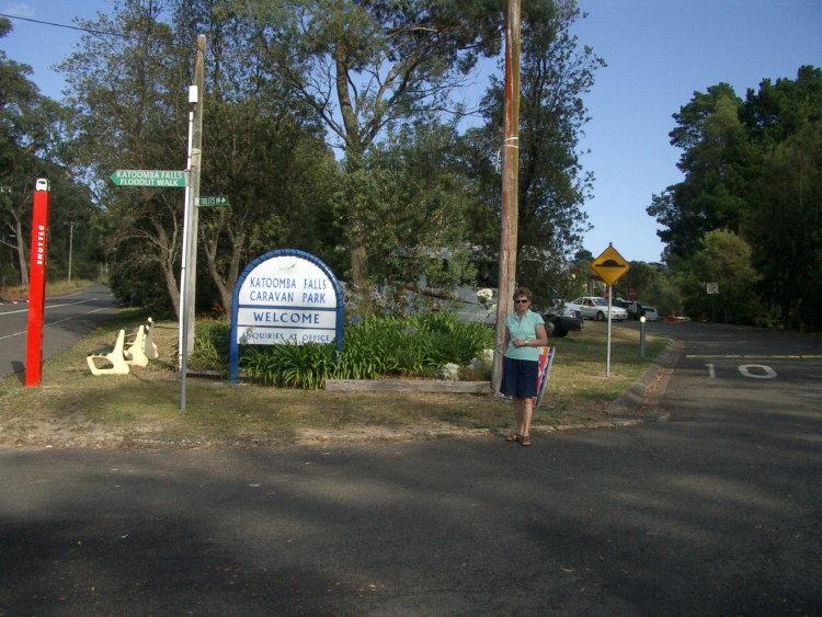Infarten till Katomba Falls Carava Park