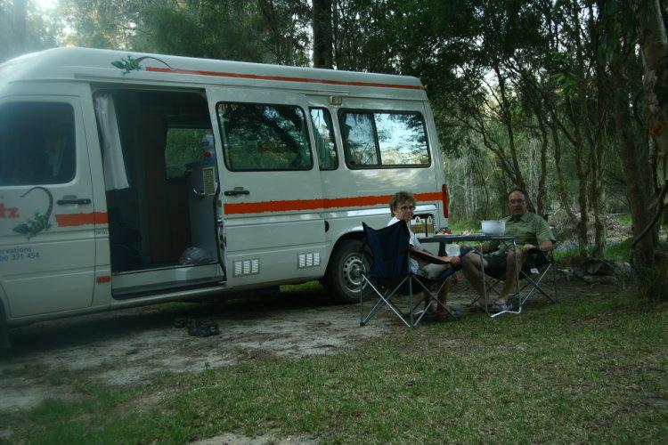 Bushcampingen Cabins and Camping vid Jervis Bay