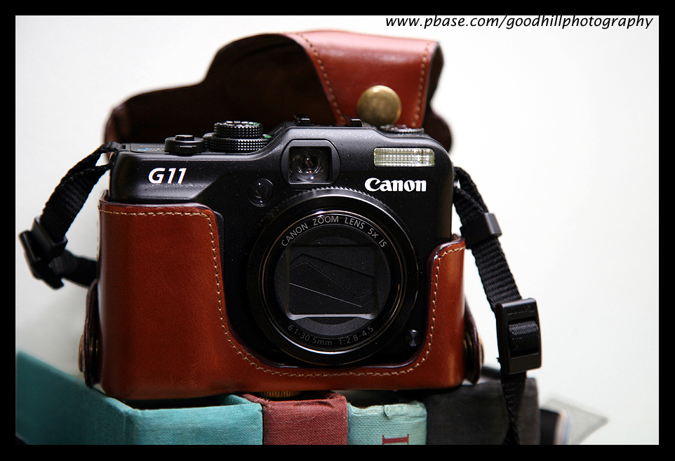 Classic Canon G11 Brown Leather Case