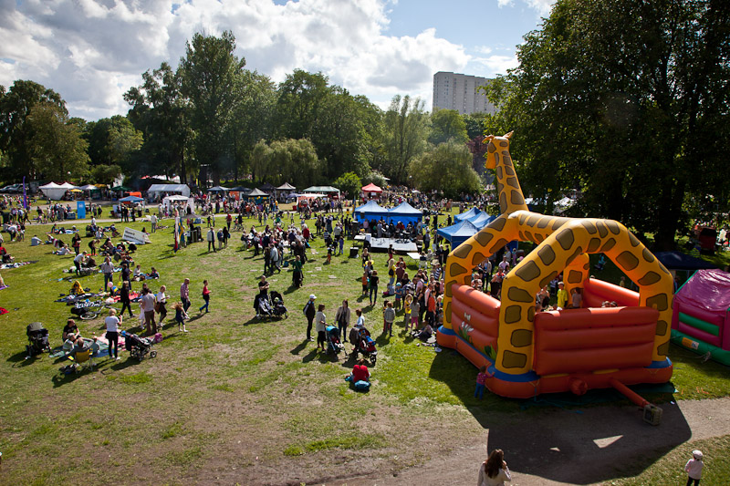 Celebrating in the park