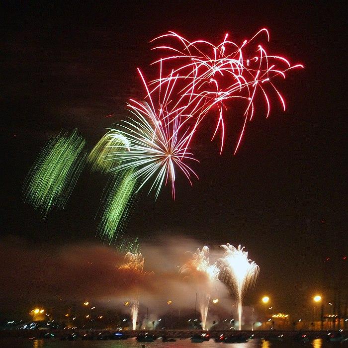 Feria de Agosto - fireworks over the port