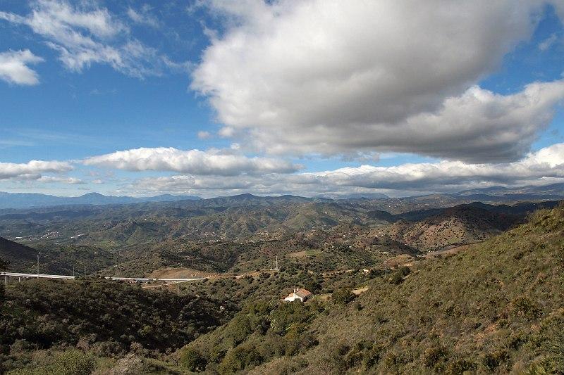 View west from near Ermita Los Verdiales
