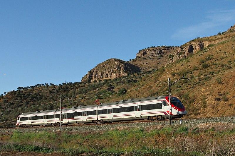 Local train near Pizarra