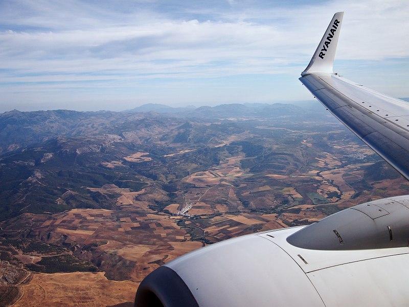 Flying over Málaga Province