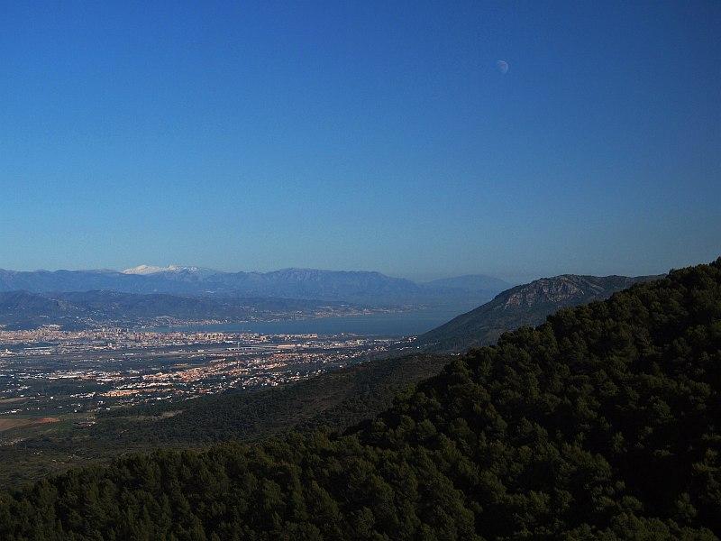 View towards Málaga from the Sierra de Mijas