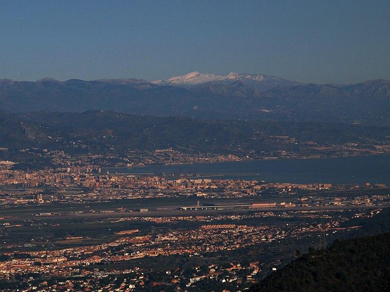 View over Málaga from the Sierra de Mijas