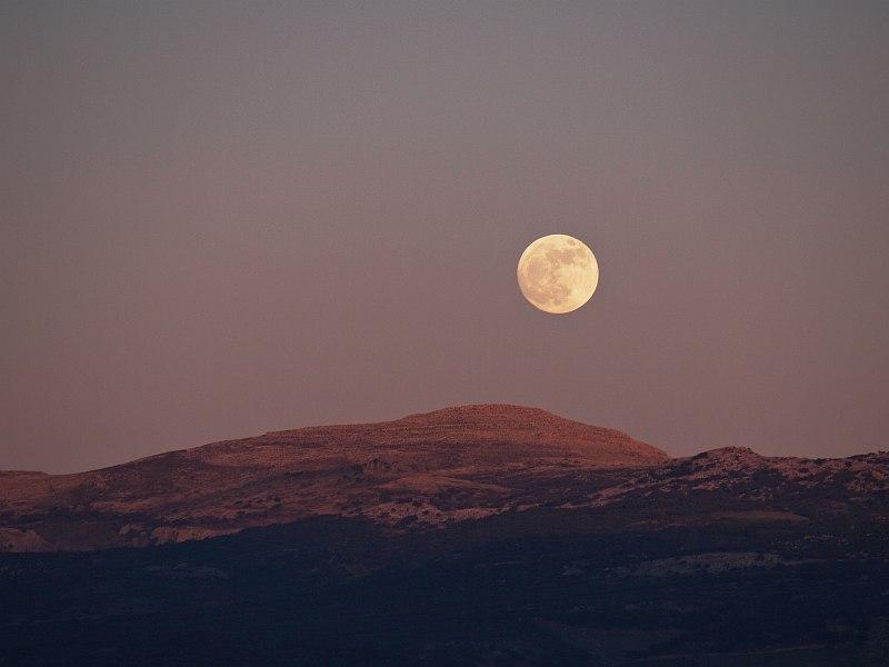 Moonrise east of Ronda