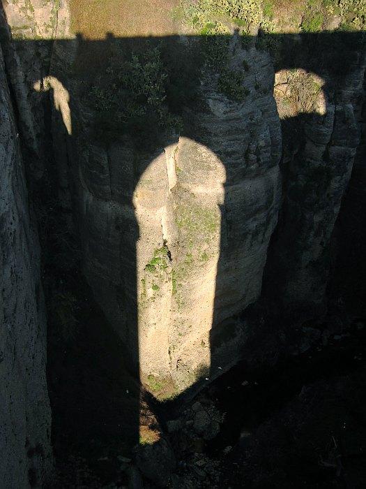 Ronda - shadow of Puente Nuevo