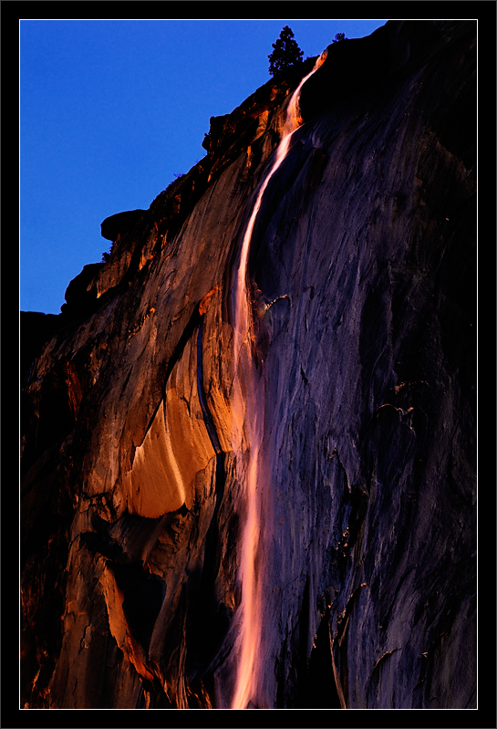 Sunset on Horsetail Fall