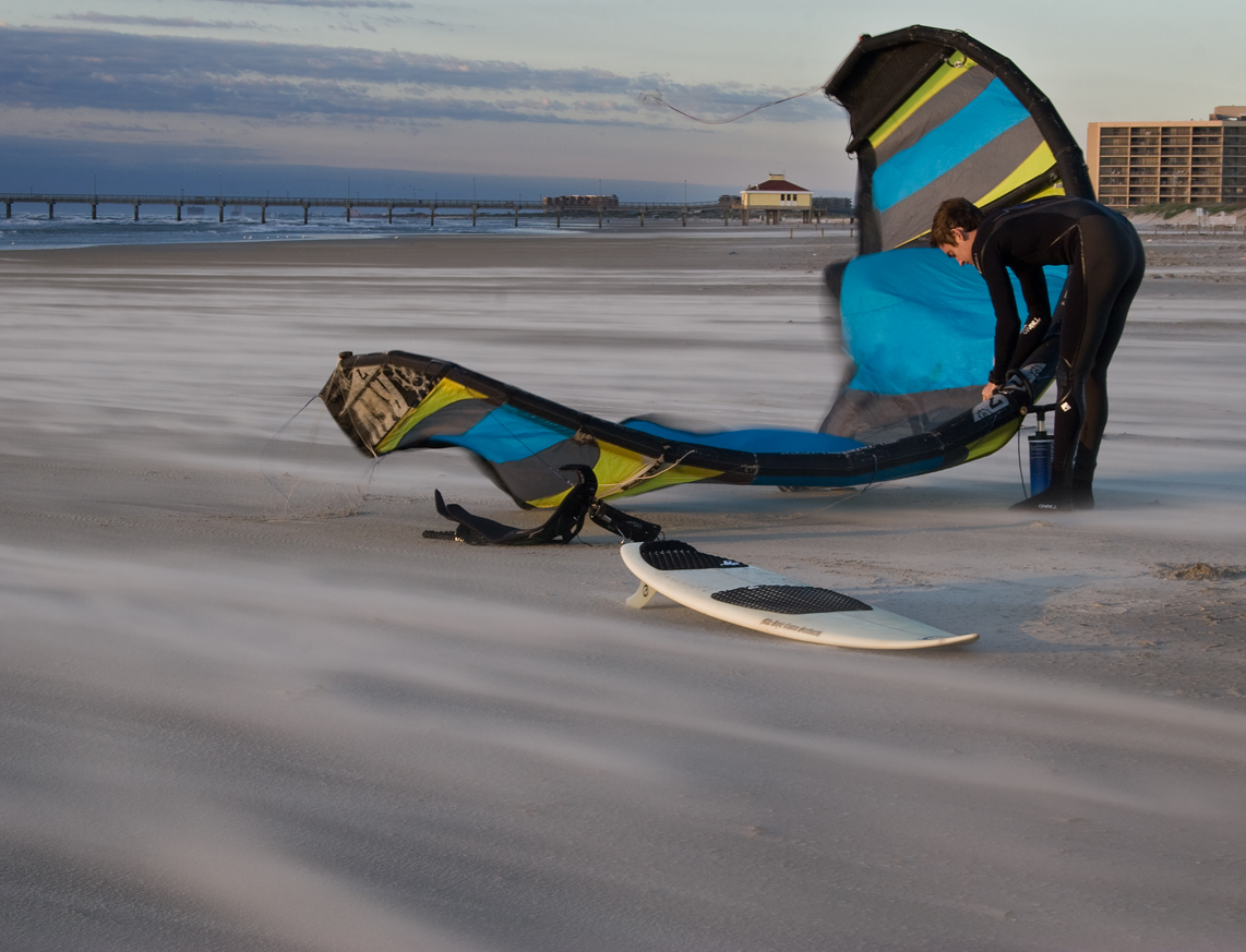 Kiteboarding in South Texas