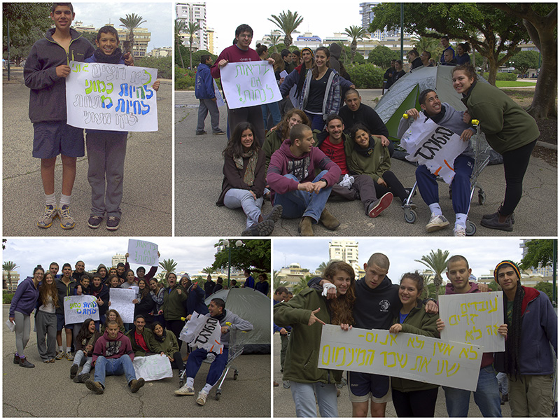 Scouts from Pardes Hanna in Tel Aviv to learn about Social Protests