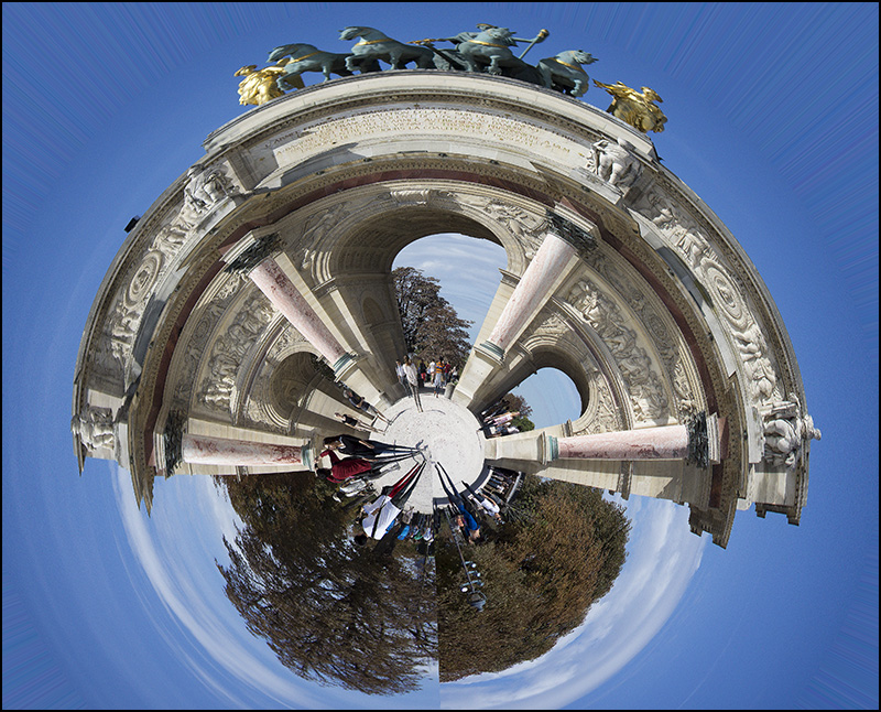 Arc de Triomphe in Paris,
