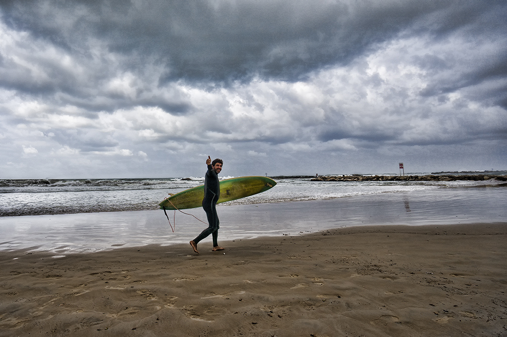 Happiness is............ Surfing in a Strong Wind