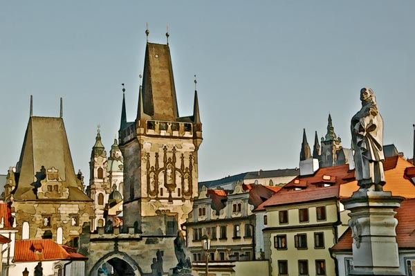 Prague, the City from Charles Bridge
