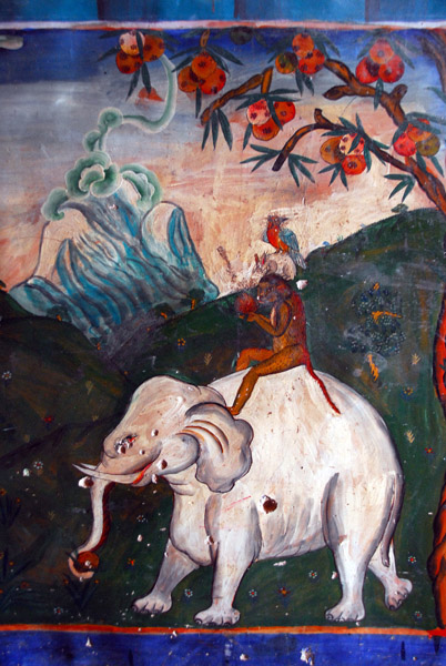 Four Friends elephant, monkey, hare and partridge from Tittira Jataka legend