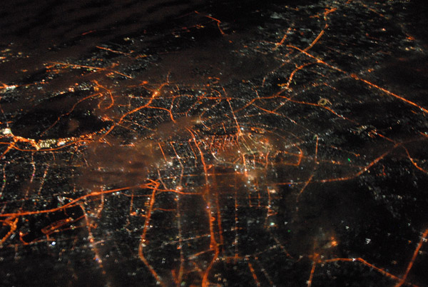 Bangkok, Thailand night aerial