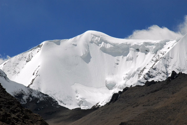 That looks like serious avalanche danger (N28.862/E090.209), east face of Kaluxung (6674m)