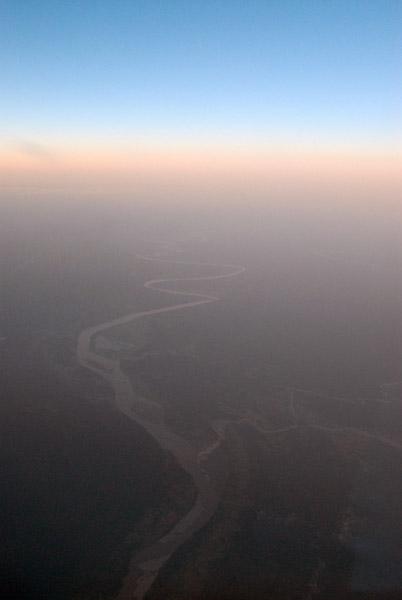River in central Burma (Myanmar) at dusk