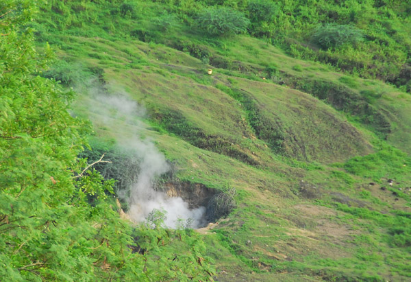 Steam vent inside the Taal Volcano crater