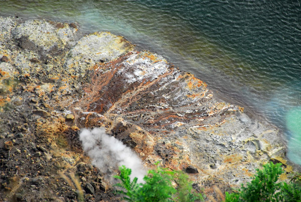 Steam vent on the shores of the Crater Lake, Taal Volcano