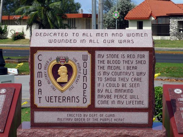 Purple Heart Monument - combat wounded veterans, Skinner Plaza, Hagåtña