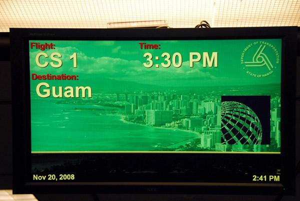 Continental Micronesia flight CS1 from Honolulu to Guam