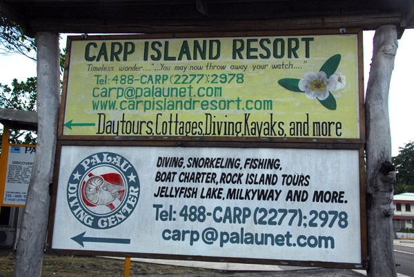 Carp Island Resort would have been a better option for diving...saves the long boat ride each way