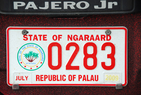Palau License Plate - State of Ngaraard