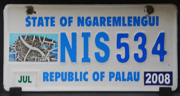 Palau License Plate - State of Ngaremlengui