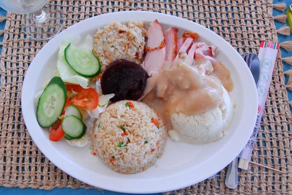 American Thanksgiving Dinner at the Okemii Deli, Melekeok