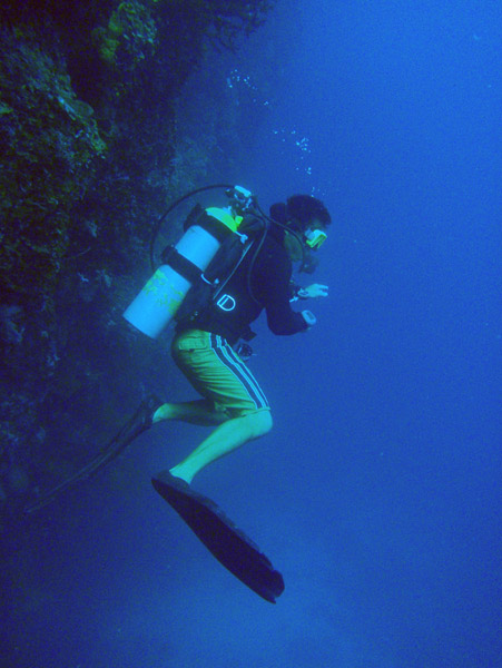 The dive guide from Sams Tours